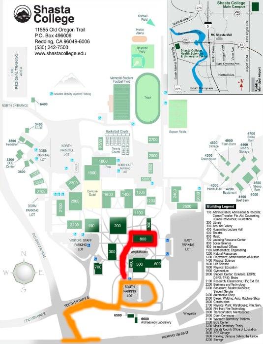 Amazing Shasta College Map Photos - Printable Map - New ...