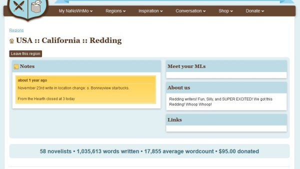 NaNoWriMo Redding 2